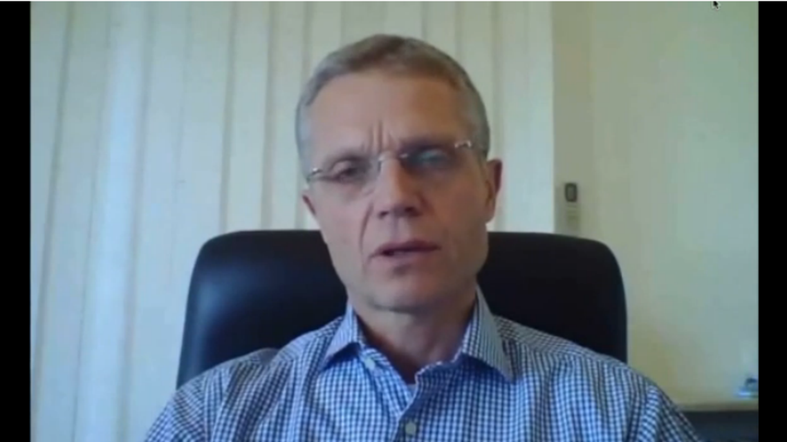 Magne Barth, the head of the Syrian arm of the International Committee of the Red Cross (ICRC), in the video.