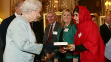 Malala all smiles as she meets Queen Elizabeth