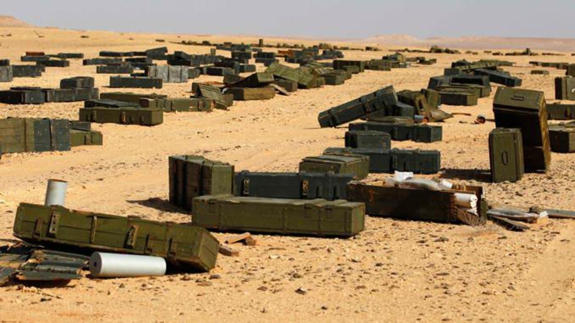 كميات من الاسلحة في ليبيا