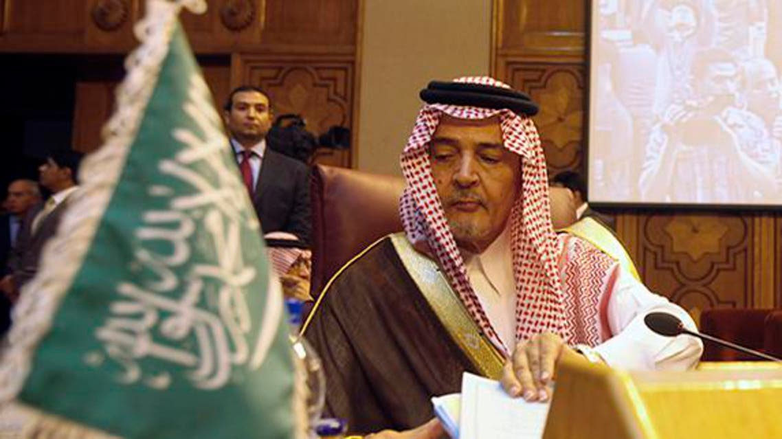 Saudi Arabia's Foreign Minister Prince Saud al-Faisal attends the opening of an Arab foreign ministers emergency meeting to discuss the Syrian crisis and the potential military strike on President Bashar al-Assad's regime, at the Arab League headquarters in Cairo, September 1, 2013.  reuters
