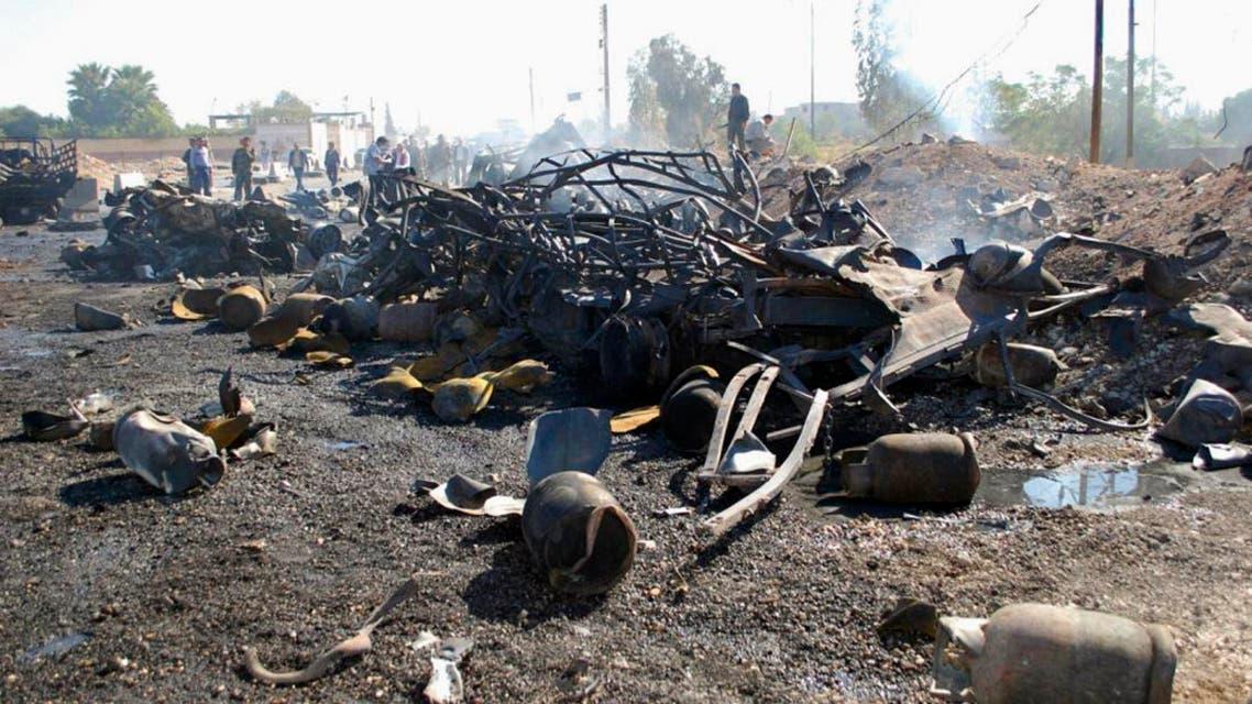 Hama car bomb Reuters