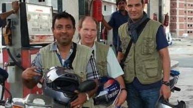 القنصل الفرنسي يتفقد أحوال الحجاج على دراجة نارية