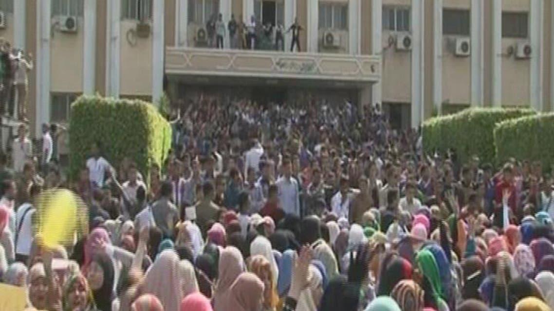THUMBNAIL_ عودة الدراسة في جامعة الأزهر والاخوان مصرون على التظاهر