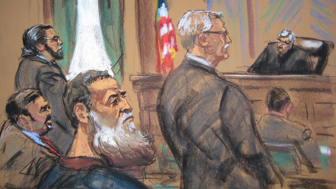 A courtroom sketch shows Nazih al-Ragye, known by the alias Abu Anas al-Liby as he appears in Manhattan Federal Court in New York October 22, 2013. (Reuters)