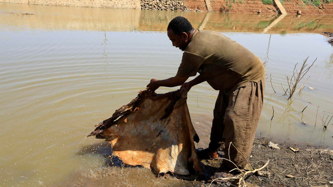 Leather making in Sudan