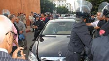 Video: Unemployed Moroccans block convoy of Islamist PM