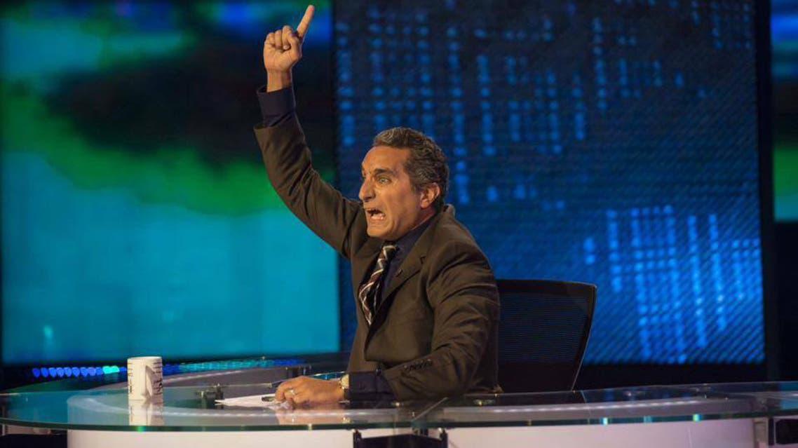 صورة من كواليس تصوير أولي حلقات الموسم الثاني لبرنامج باسم يوسف