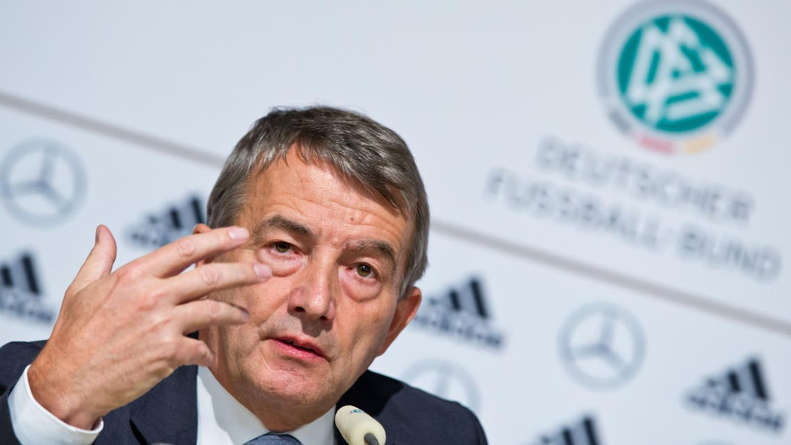 Wolfgang Niersbach, president of the German Football Federation (DFB), speaks during a press conference of the DFB Bundestag in Nuremberg, southern Germany, on Oct. 25, 2013. (AFP)