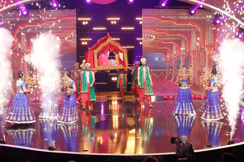 Karina Kappoor appears on Arabs Got Talent stage on Saturday. (MBC)