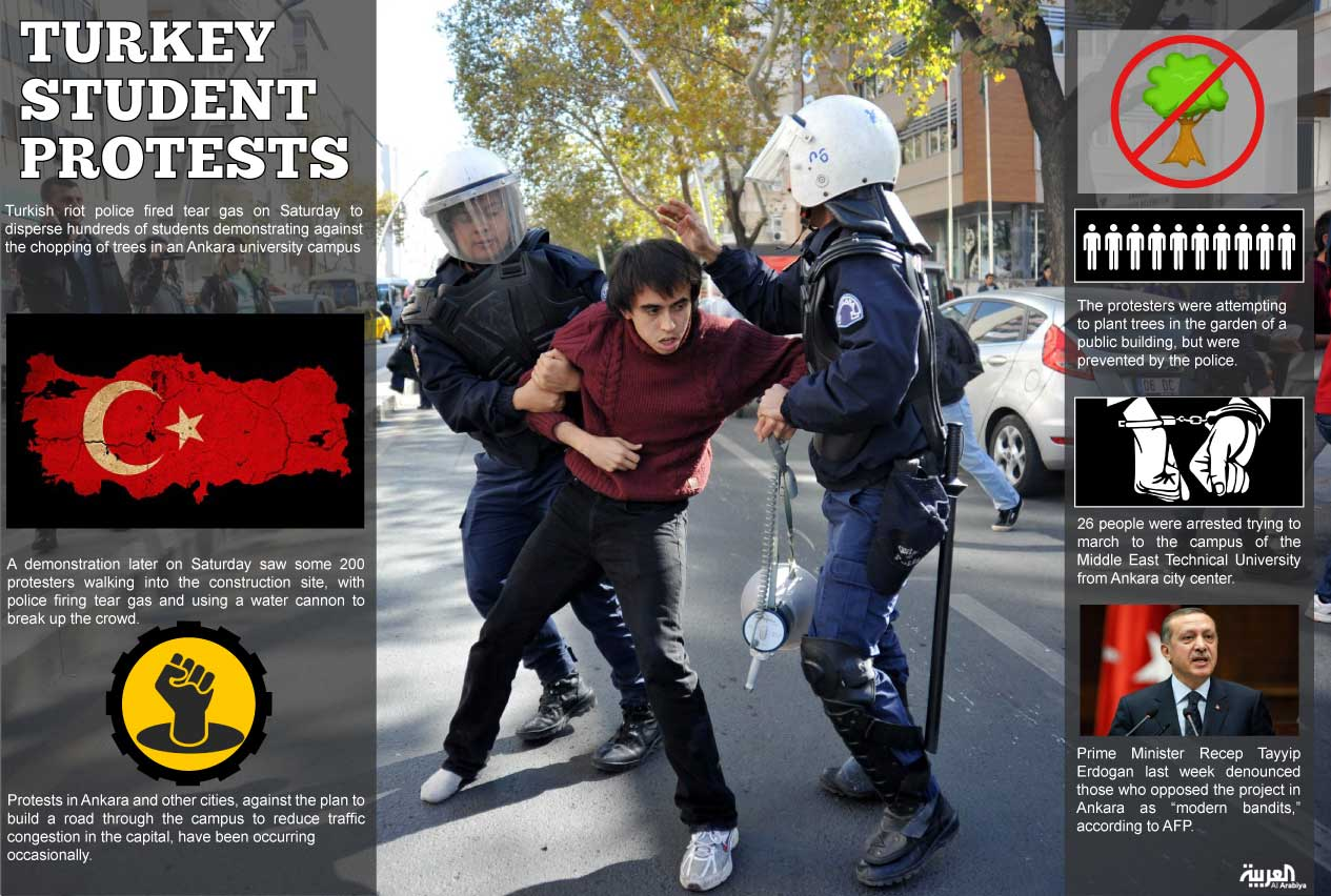 turkey infographic: turkey student protests