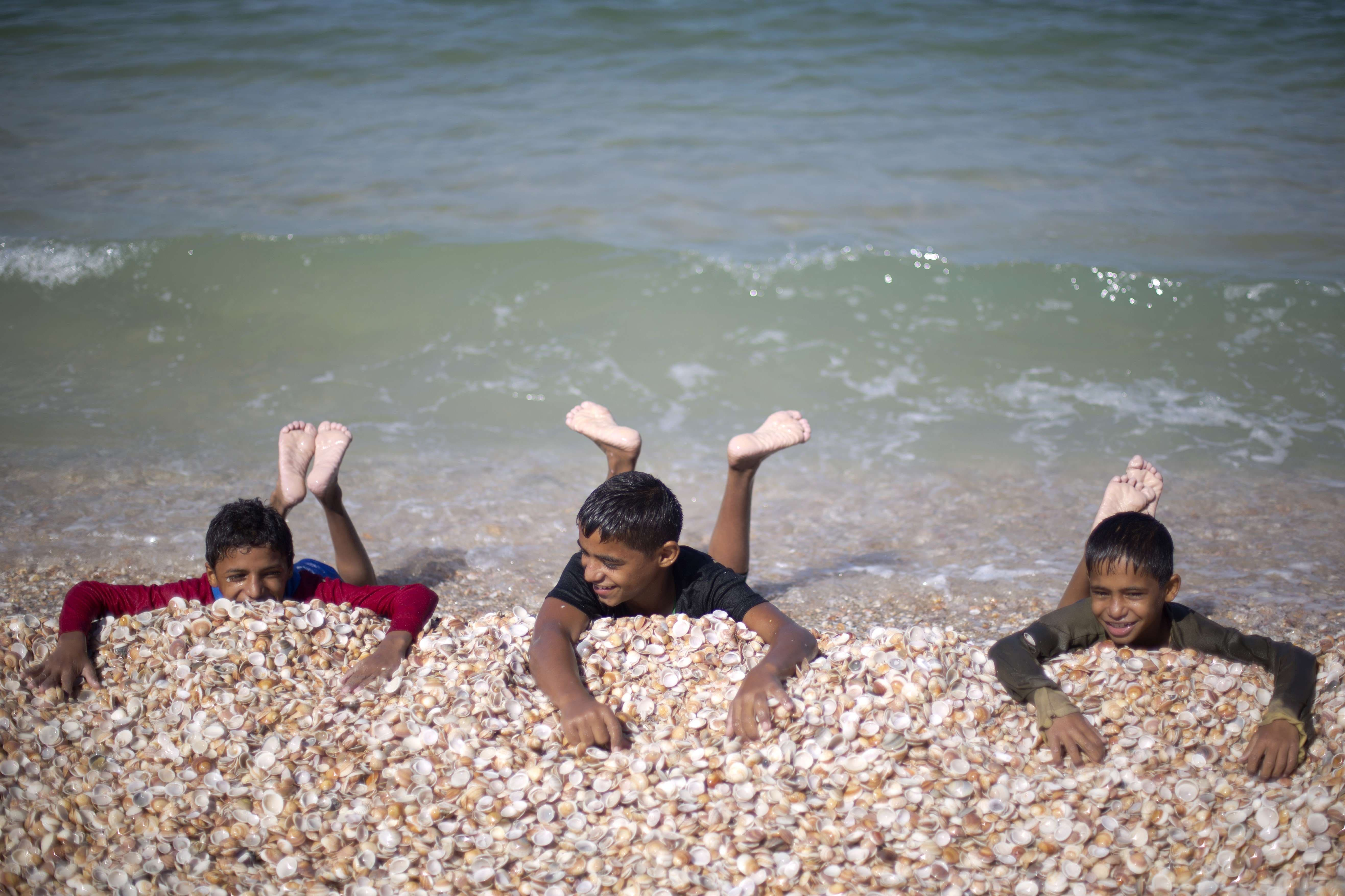 A day at the beach in Gaza