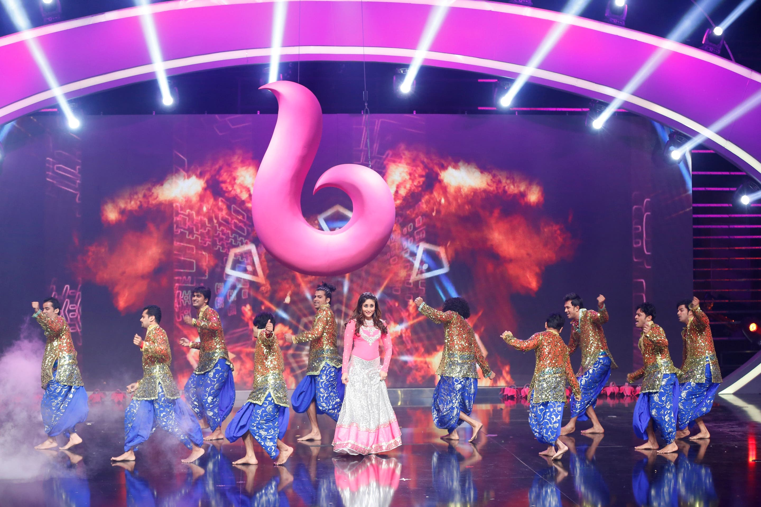 A true Bollywood performance featured on Arabs Got Talent stage marking the launch of MBC Bollywood. (MBC)
