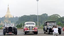 Classic car enthusiasts hit Myanmar roads