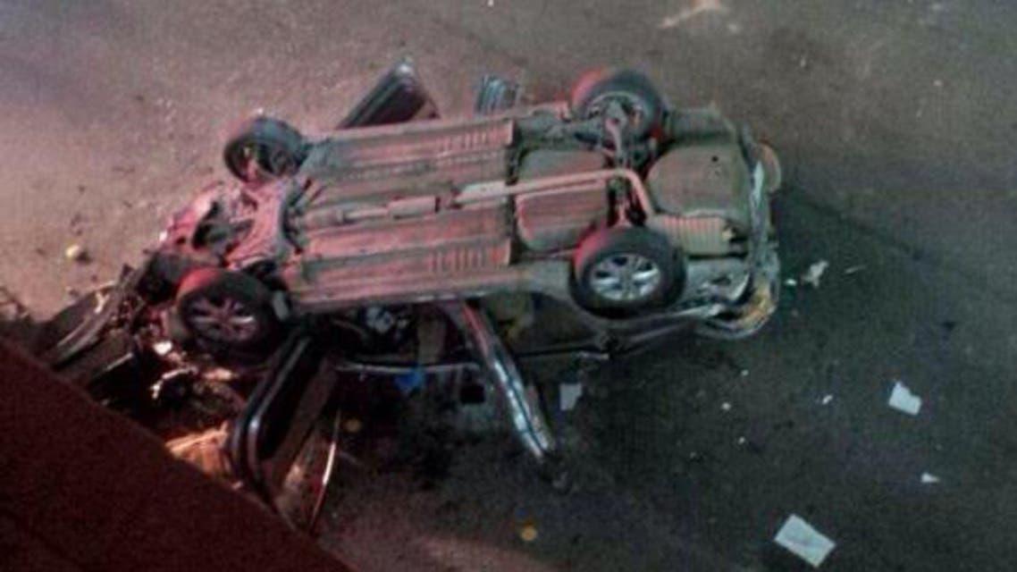 سيارة ضحايا مطاردة الهيئة في اليوم الوطني