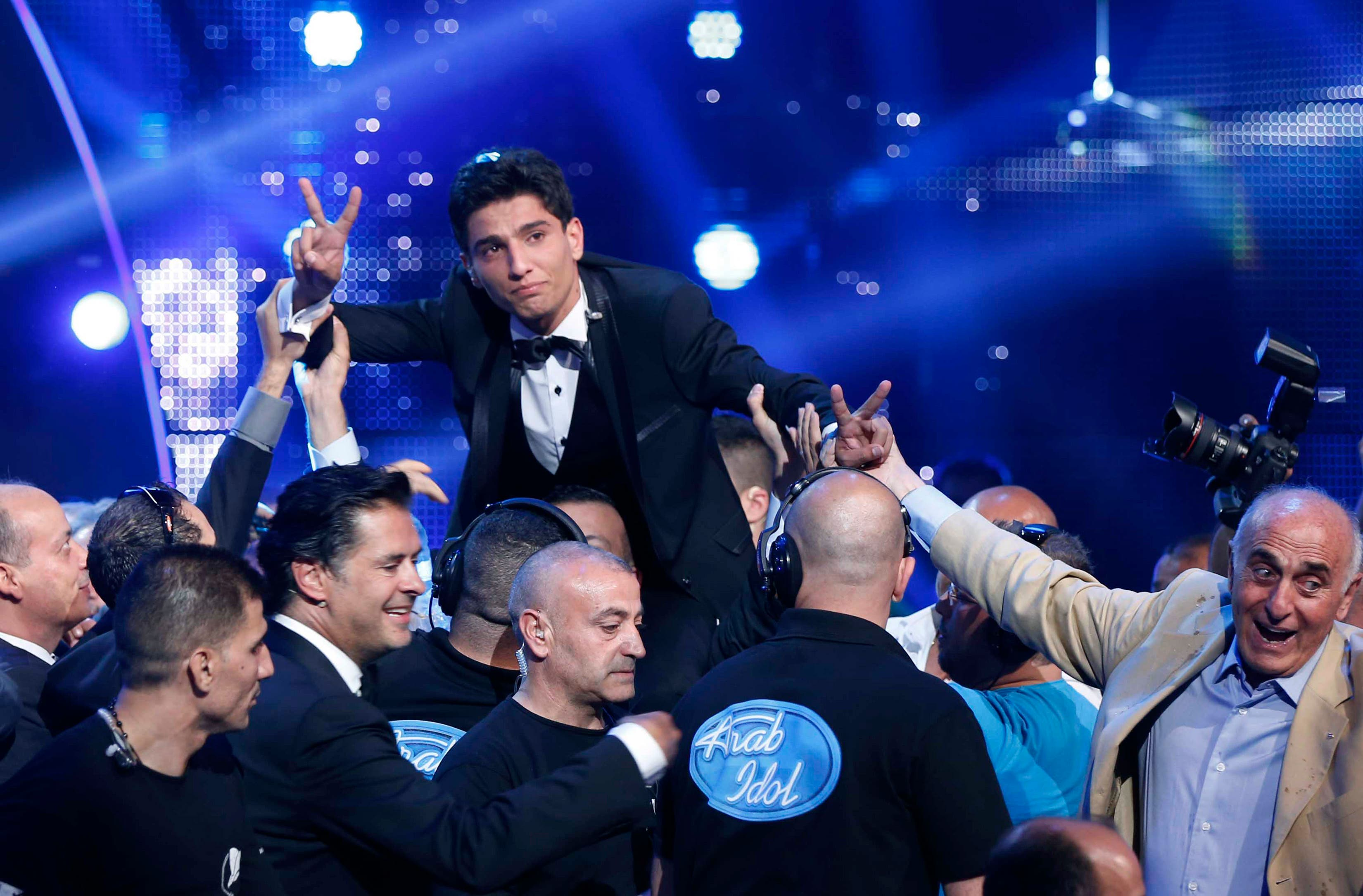 Almost 411,000 UAE residents tuned in to watch Palestinian singer Mohammed Assaf win the season two finale of Arab Idol. (File photo: Reuters)
