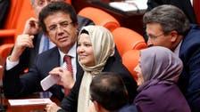 Turkish women MPs wear headscarves in parliament