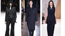 Women's masculine trouser suit is back with flattering twists