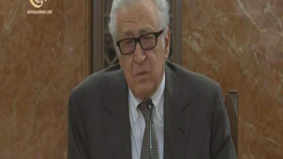THUMBNAIL_ الإبراهيمي: مؤتمر جنيف 2 لن يعقد بدون المعارضة السورية