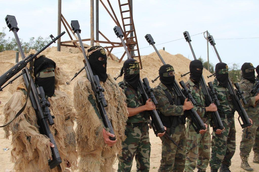 مسلحون من سرايا القدس التابعة لحركة الجهاد الاسلامي في غزة