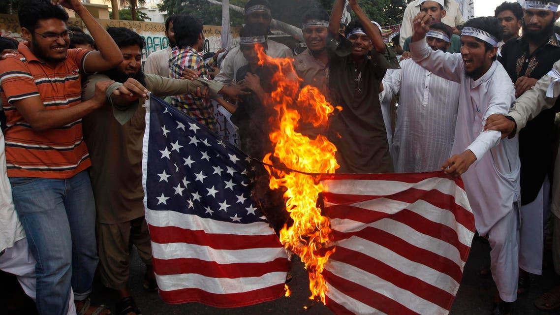 Reuters Pakistan U.S. flag