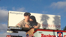 Ad depicting U.S. soldier and Muslim wife met with mixed reactions
