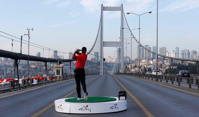 Tiger Woods on the Bosphorus