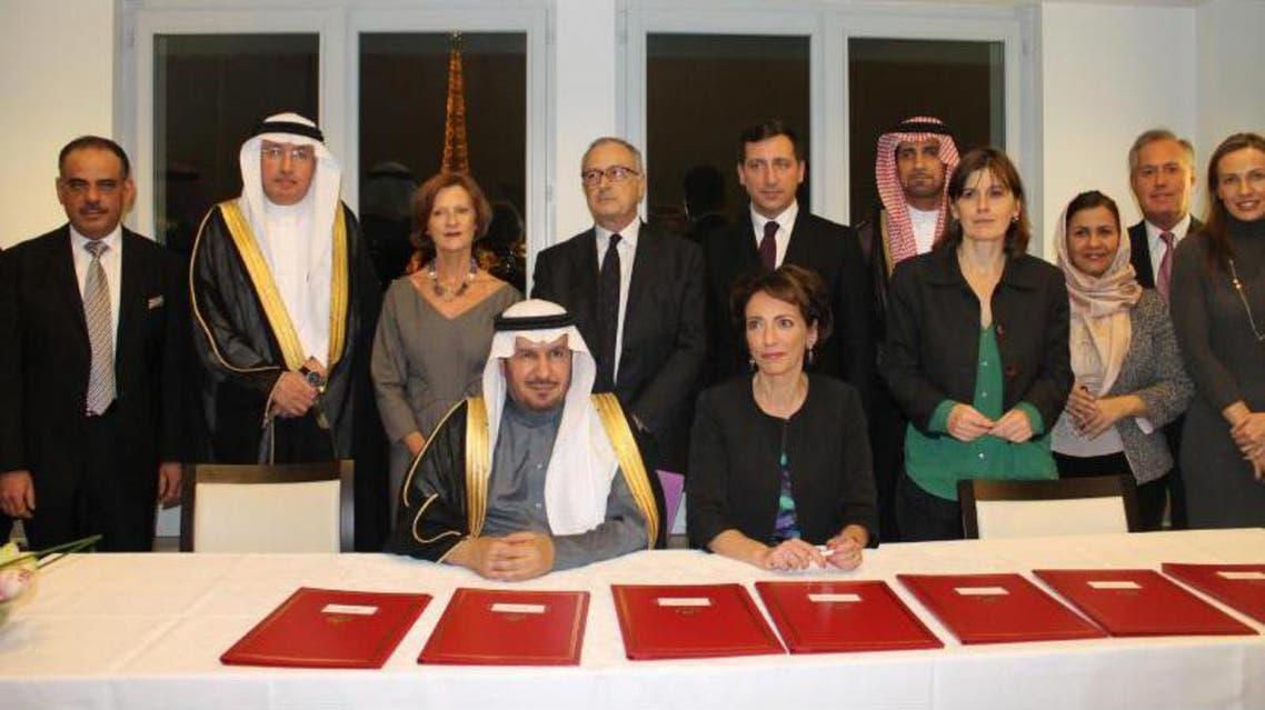 وزير الصحة السعودي مع نظيرته الفرنسية اثناء توقيع الشراكة الصحية