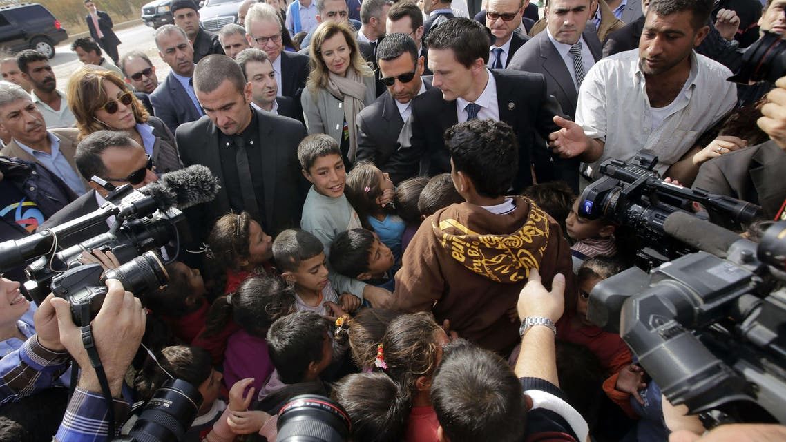 France's first lady visits Syrian refugees in Lebanon