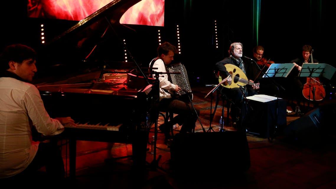 Lebanese composer and singer Marcel Khalife in Algeria