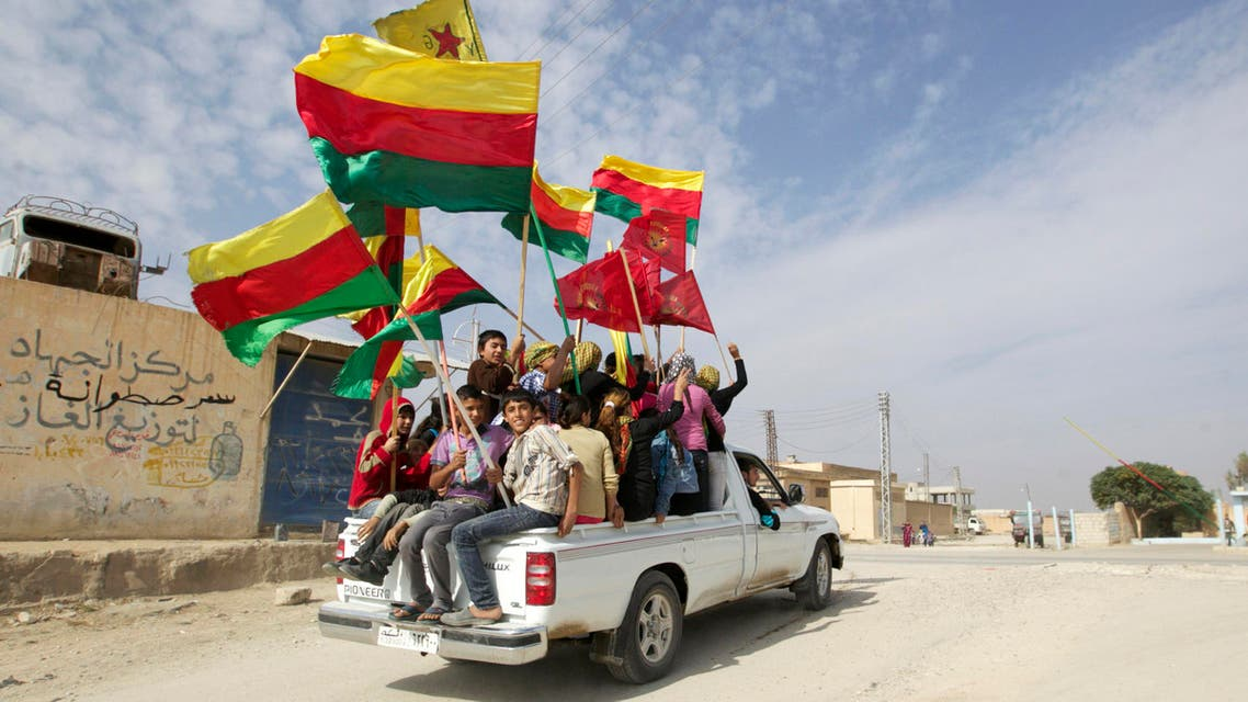 Kurds protest against Syria-Turkey border wall