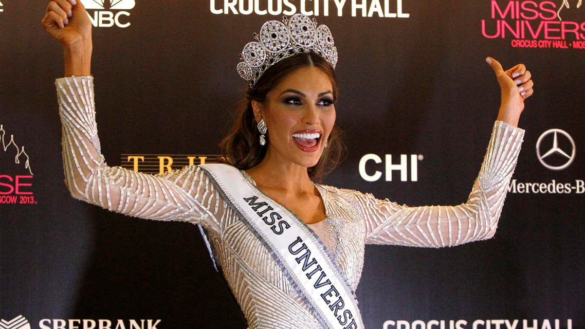 Miss Venezuela Gabriela Isler poses for photographers at a news conference after winning the Miss Universe 2013 pageant at the Crocus City Hall in Moscow Nov. 9, 2013. (Reuters)