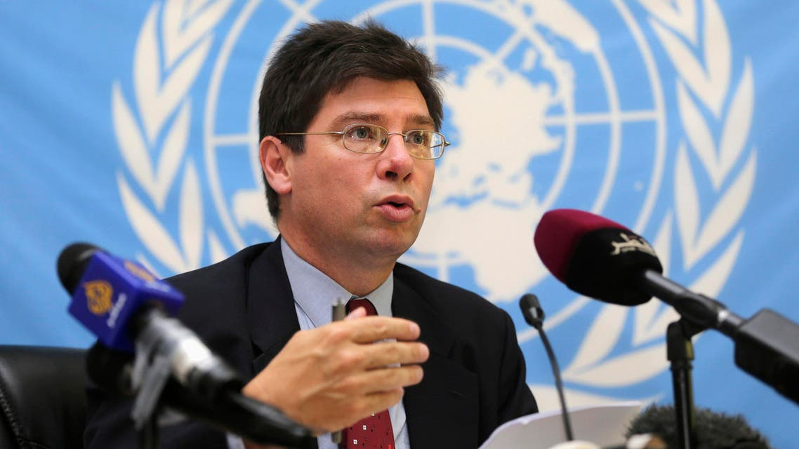 Francois Crepeau, United Nations Special Rapporteur on the human rights of migrants, speaks during a news conference in Doha, November 10, 2013. (Reuters)