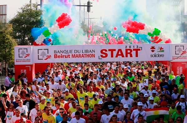 Runners take part in Beirut Marathon