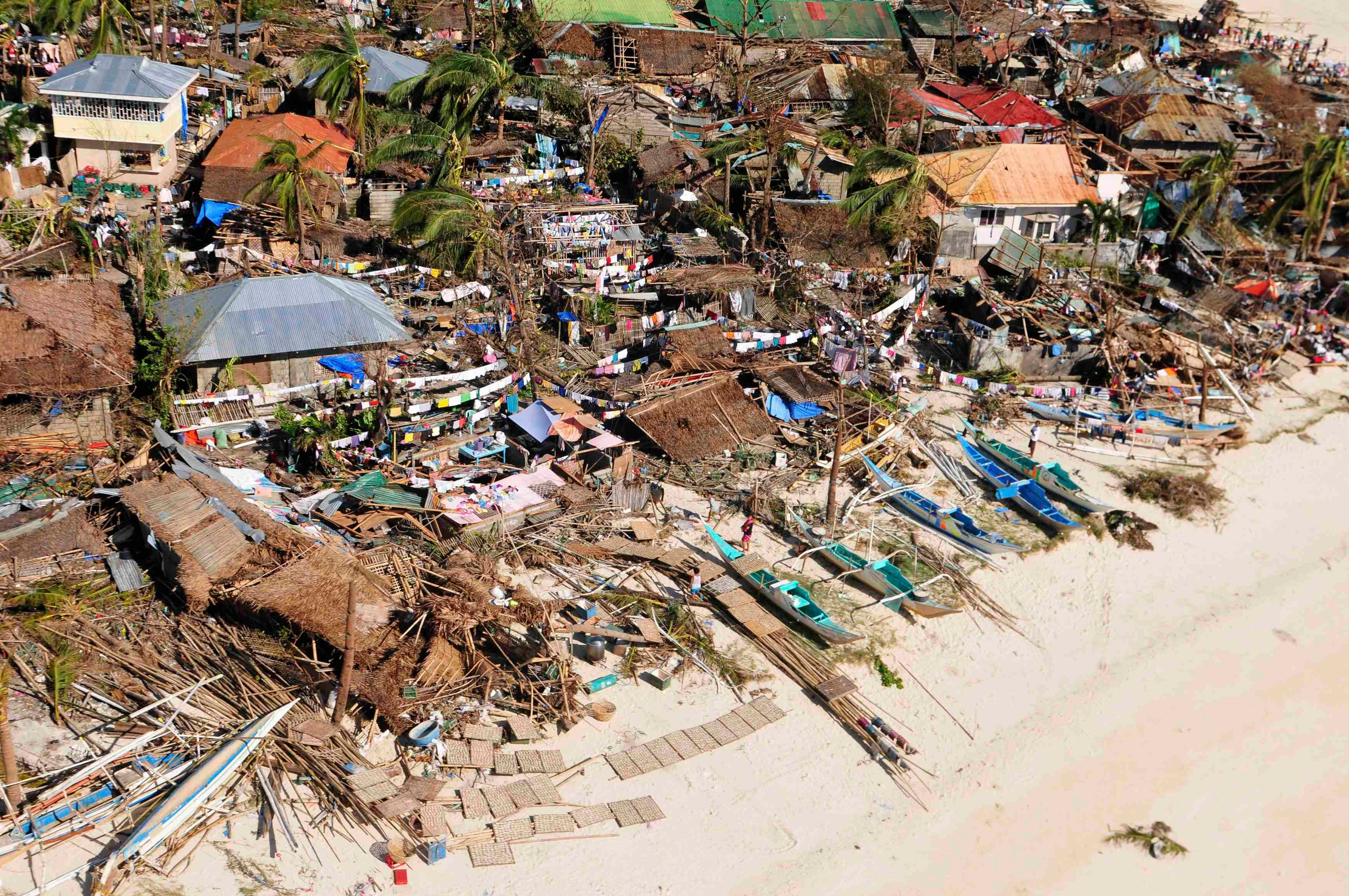 Aftermath of super typhoon in the Philippines