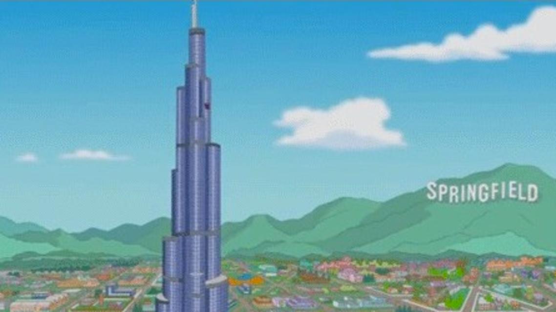 burj khalifa simpsons