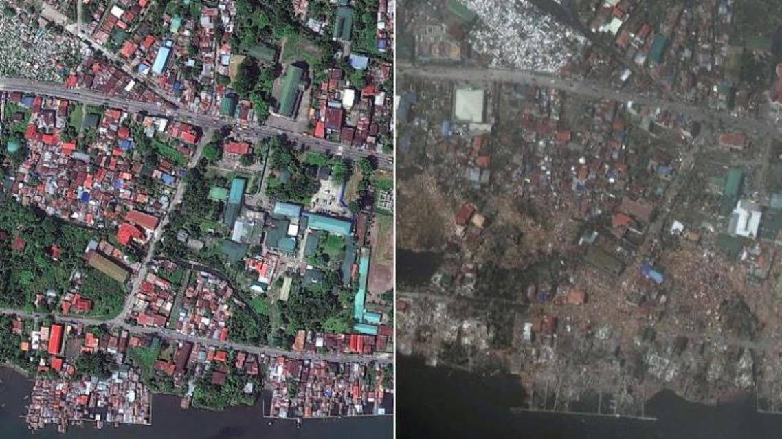 Before and after photos show how Typhoon Haiyan flattened entire city of Tacloban. (Photo courtesy: Digital Globe)