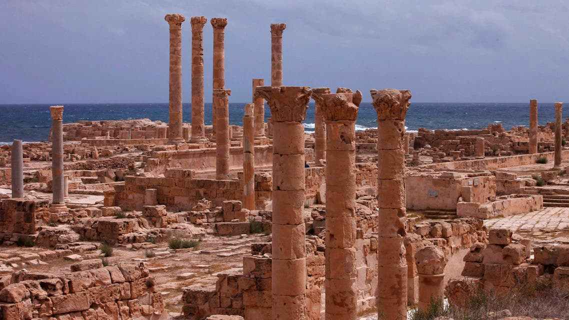 Old Roman ruins stand in the ancient archeaological site of Sabratha on Libya's Mediterreanean coast, June 1, 2013. (Reuters)