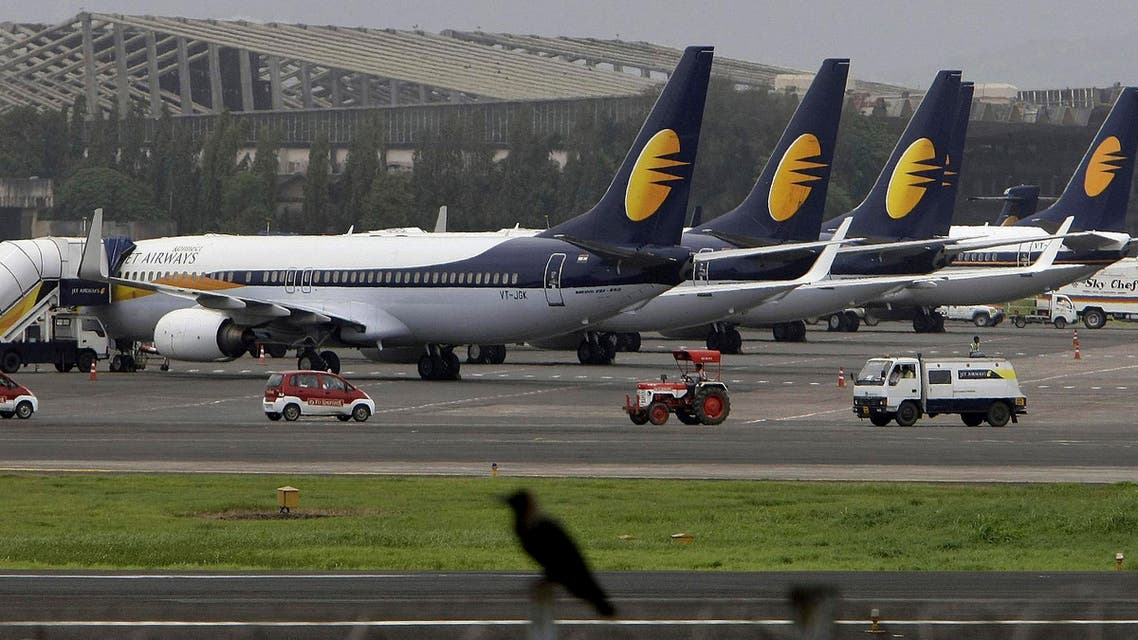 Jet Airways planes parked on the tarmac in Mumbai, India. (File photo: AP)