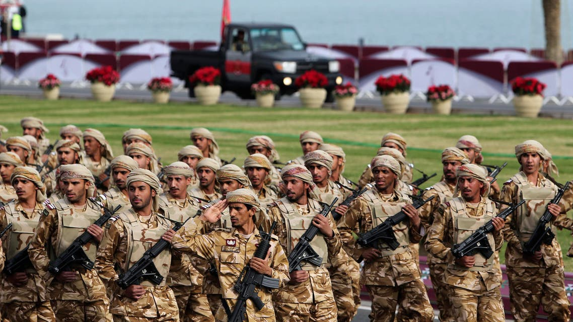 Members of the Qatari Armed Forces take part in a military parade during National Day celebrations in Doha Dec. 18, 2012. (Reuters)