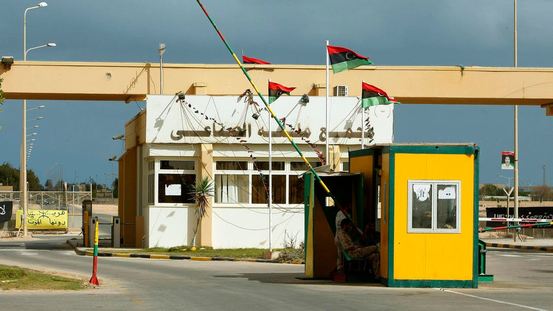 The main gate of the Mellitah Oil and Gas complex co-owned by Italy's ENI is seen, 100 km (60 miles) west of Tripoli November 7, 2013.