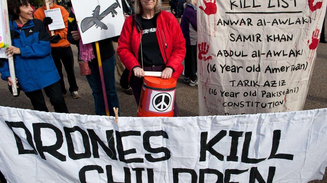 Rallying against U.S. 'drone wars'