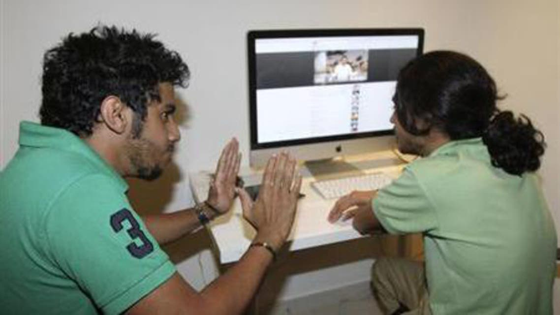 Members of the Uturn comedian group work on a Youtube video in Jeddah March 26, 2012. (Reuters)