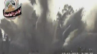 مقتل 56 عسكرياً و4 ضباط في تفجير إدارة المركبات بحرستا