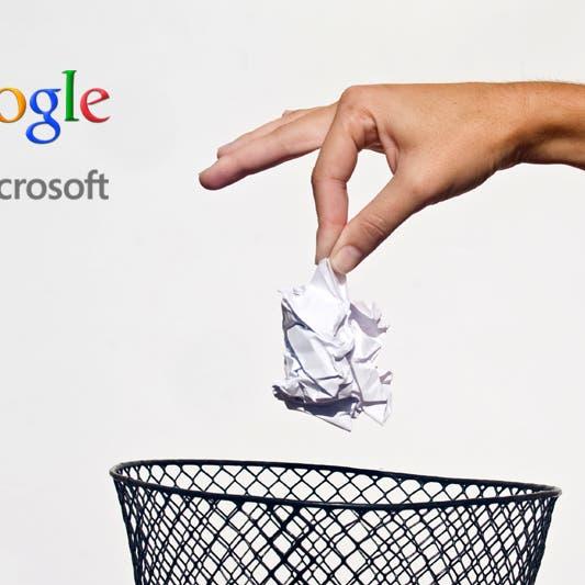 """طلب """"غير معقول"""" من غوغل يتسبب في أزمة مع مايكروسوفت"""