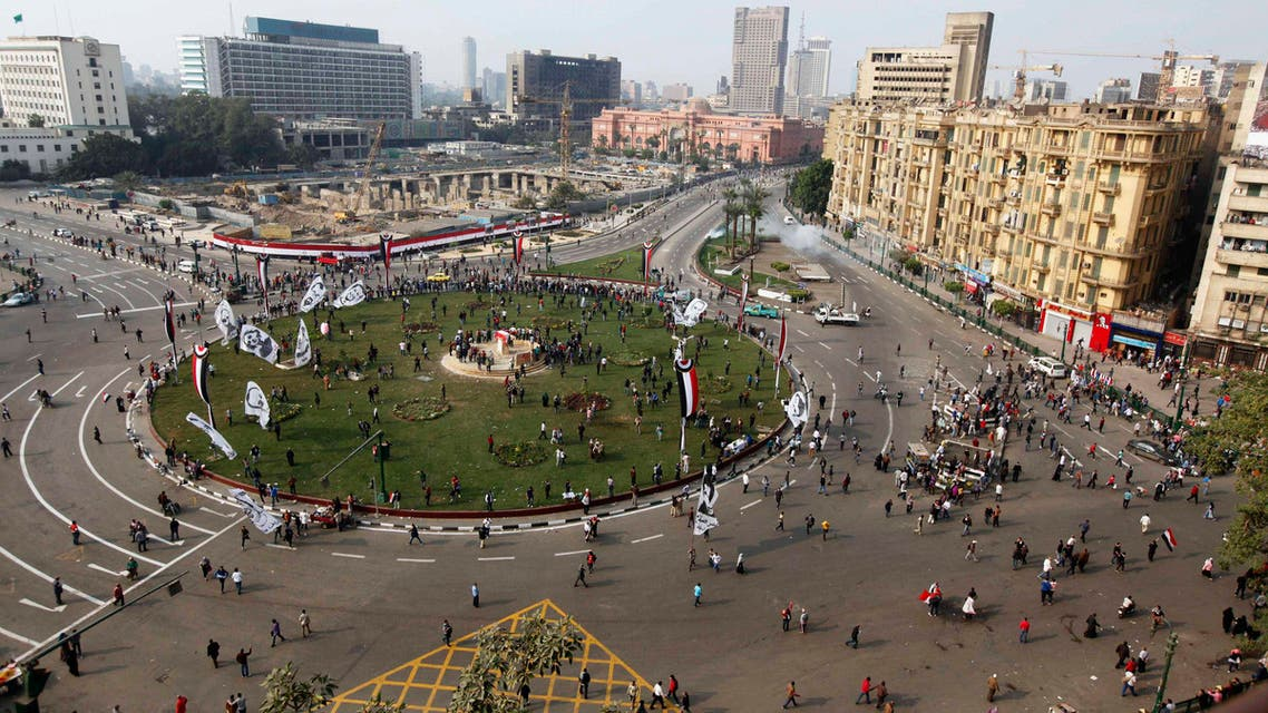 Police fired teargas to disperse a crowd of several hundred people in Cairo's Tahrir Square on Tuesday. (Reuters)