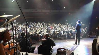 محمد عساف يشعل مسرح جامعة جورج واشنطن بأغانيه الوطنية