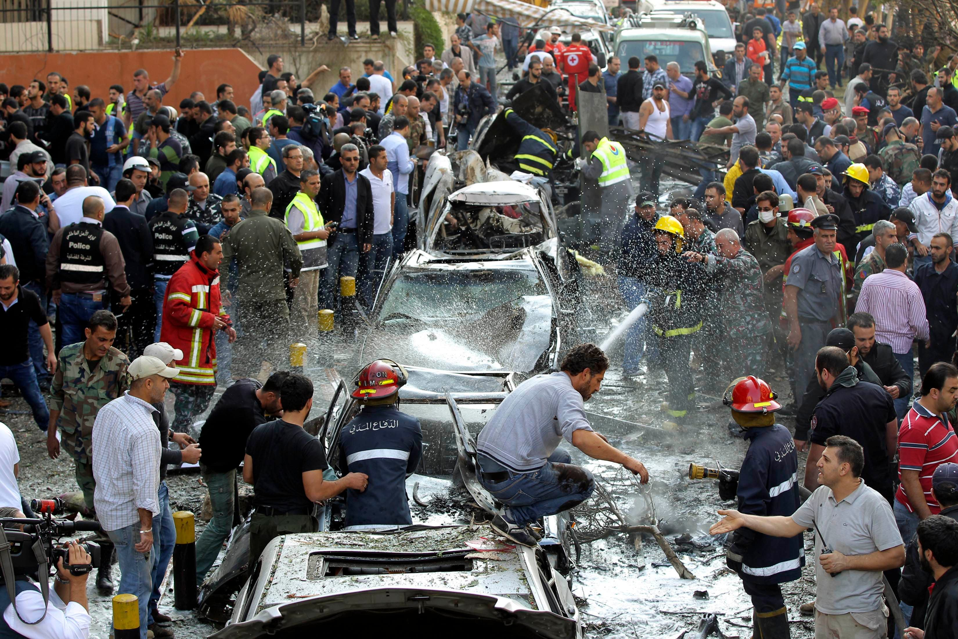 Blasts rock Iranian embassy in Beirut