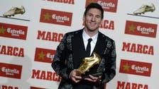 Messi receives Golden Boot as Europe's top scorer
