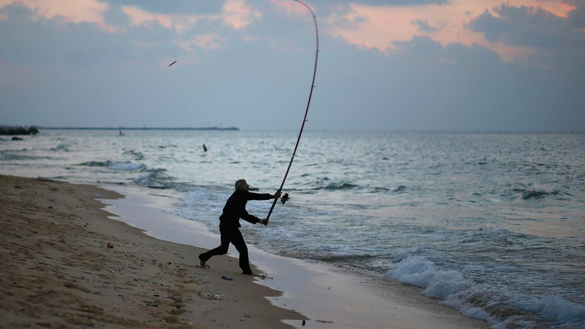 A fishing day in Gaza City