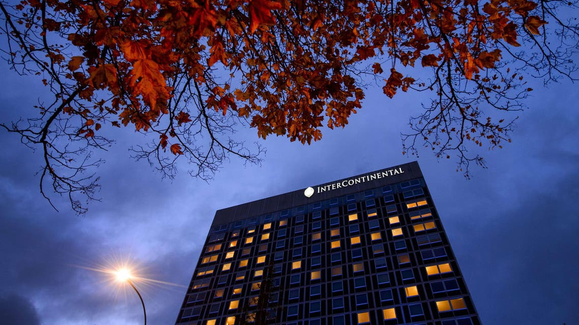 The Intercontinental Hotel during talks over Iran's nuclear program in Geneva on Nov. 21, 2013. (Reuters)